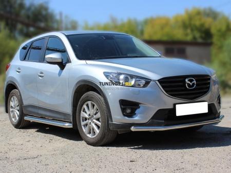 Mazda СX-5 2015-наст.вр.-Защита переднего бампера одинарная d-53